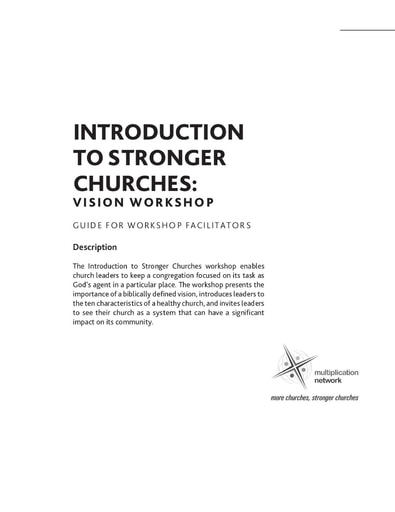 Introduction to Stronger Churches Workshop